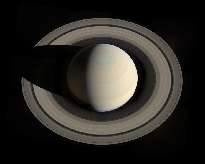Looking down Saturn, October 2013