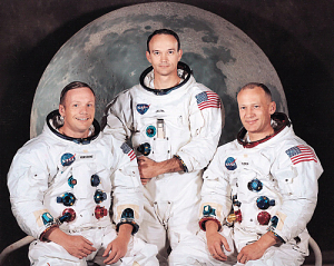 Commander Neil Armstrong, Command Module Pilot Michael Collins and Lunar Module Buzz Aldrin