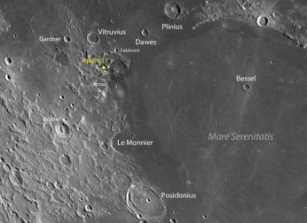 Apollo 17 landing site, Taurus-Littrow highlands